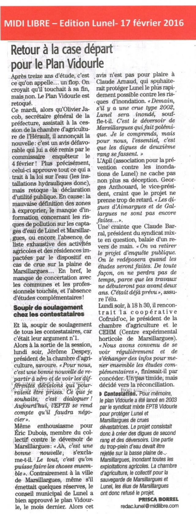 11 - Midi Libre - 17 février 2016