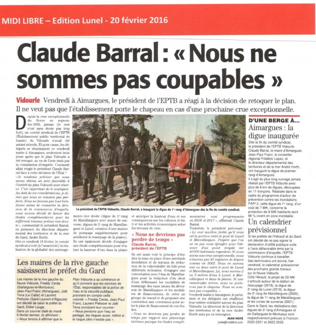 14 - Midi Libre - 20 février 2016