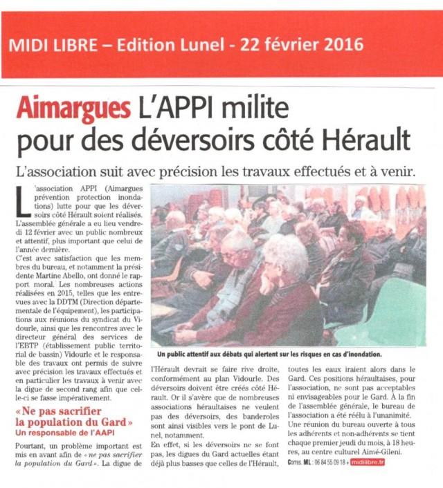 15 - Midi Libre - 22 février 2016