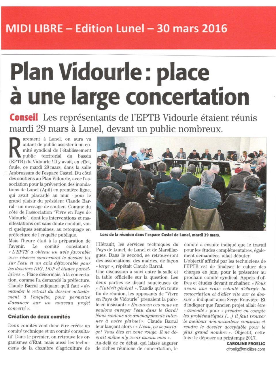 Plan Vidourle : place à une large concertation