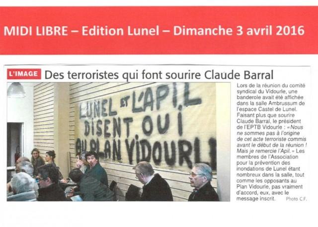 20 - Midi Libre - 3 avril 2016