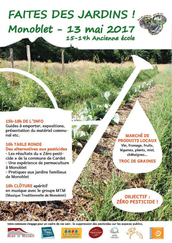 Vers le zéro pesticides sur le bassin du Vidourle : Faites des jardins ! Monoblet – samedi 13 mai