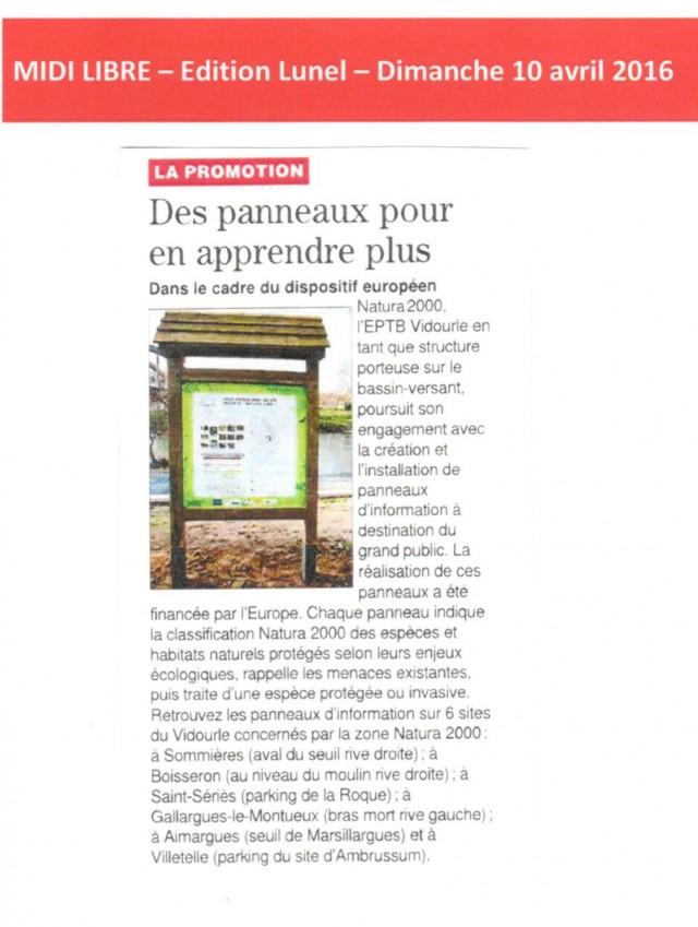 21 - Midi Libre - 10 avril 2016