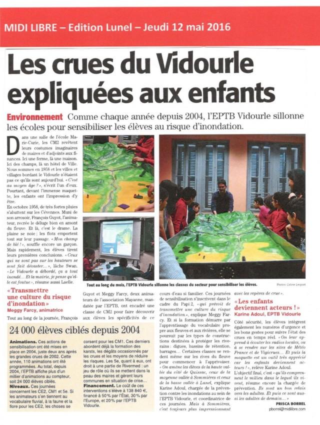 22 - Midi Libre - 12 mai 2016