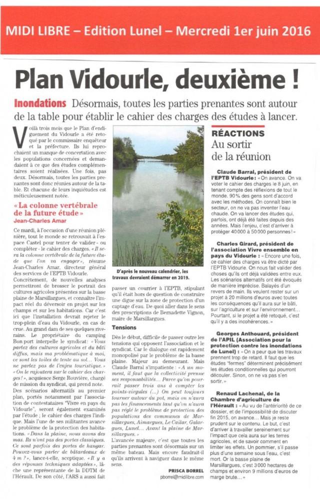 24 - Midi Libre - 1er juin 2016