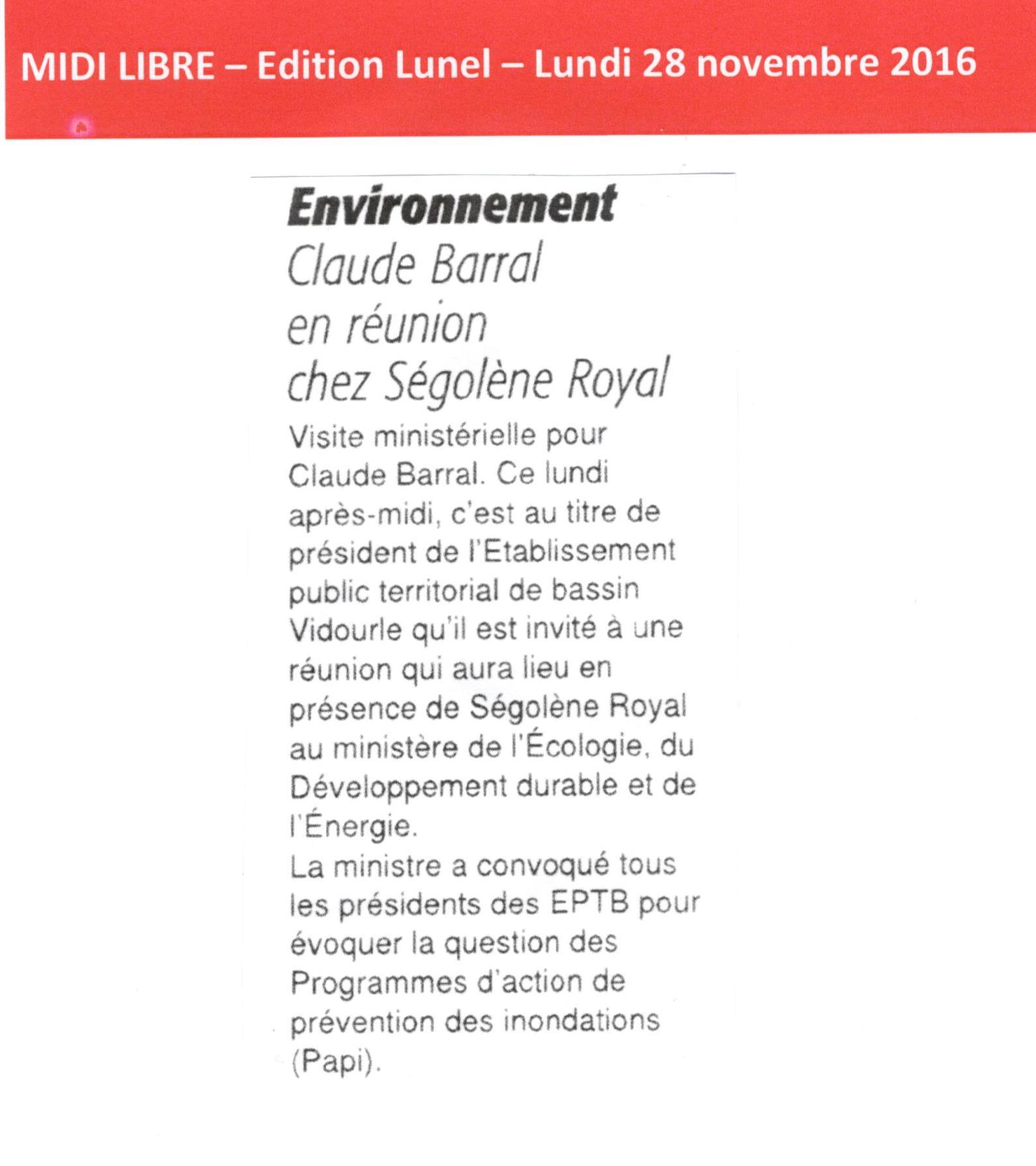 Claude BARRAL en réunion chez Ségolène ROYAL