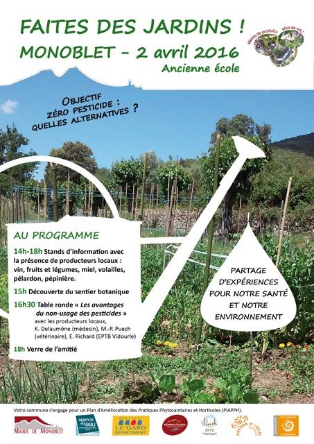 Monoblet, commune adhérente de l'EPTB Vidourle, démarre son plan «Zéro pesticide»