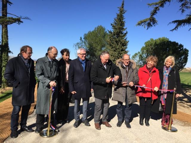 Inauguration de la digue de 1er rang à Aimargues