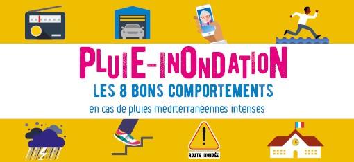 Campagne Nationale Pluie – Inondation : sensibilisation aux bons comportements à tenir en cas de Vidourlades !