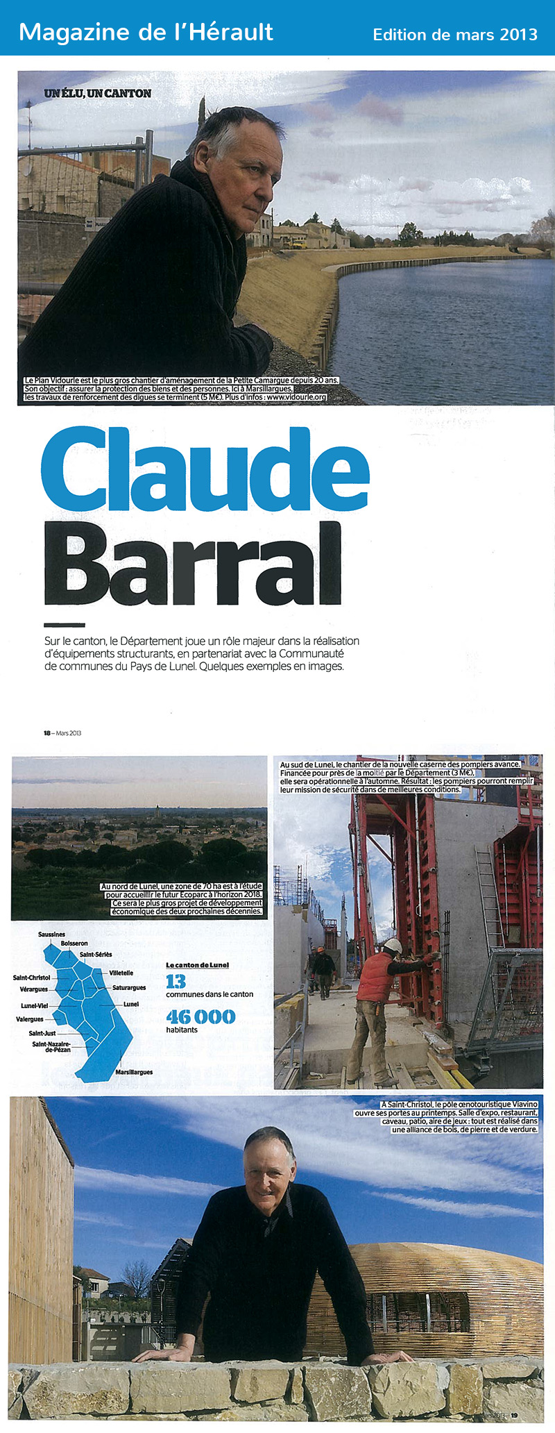 Magazine de l'Hérault – Mars 2013
