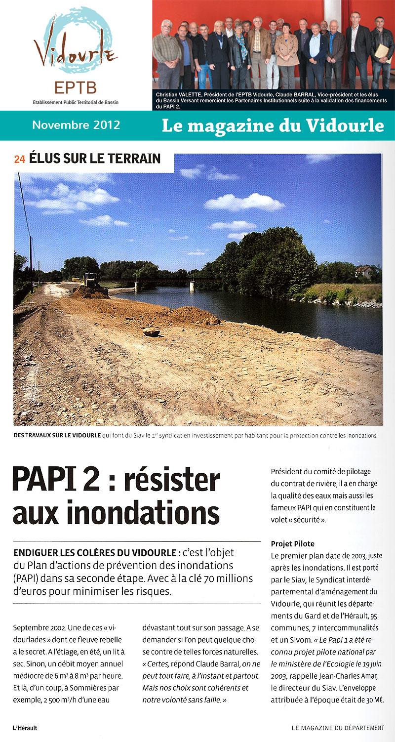 Magazine du CG34 de Novembre 2012 – PAPI 2