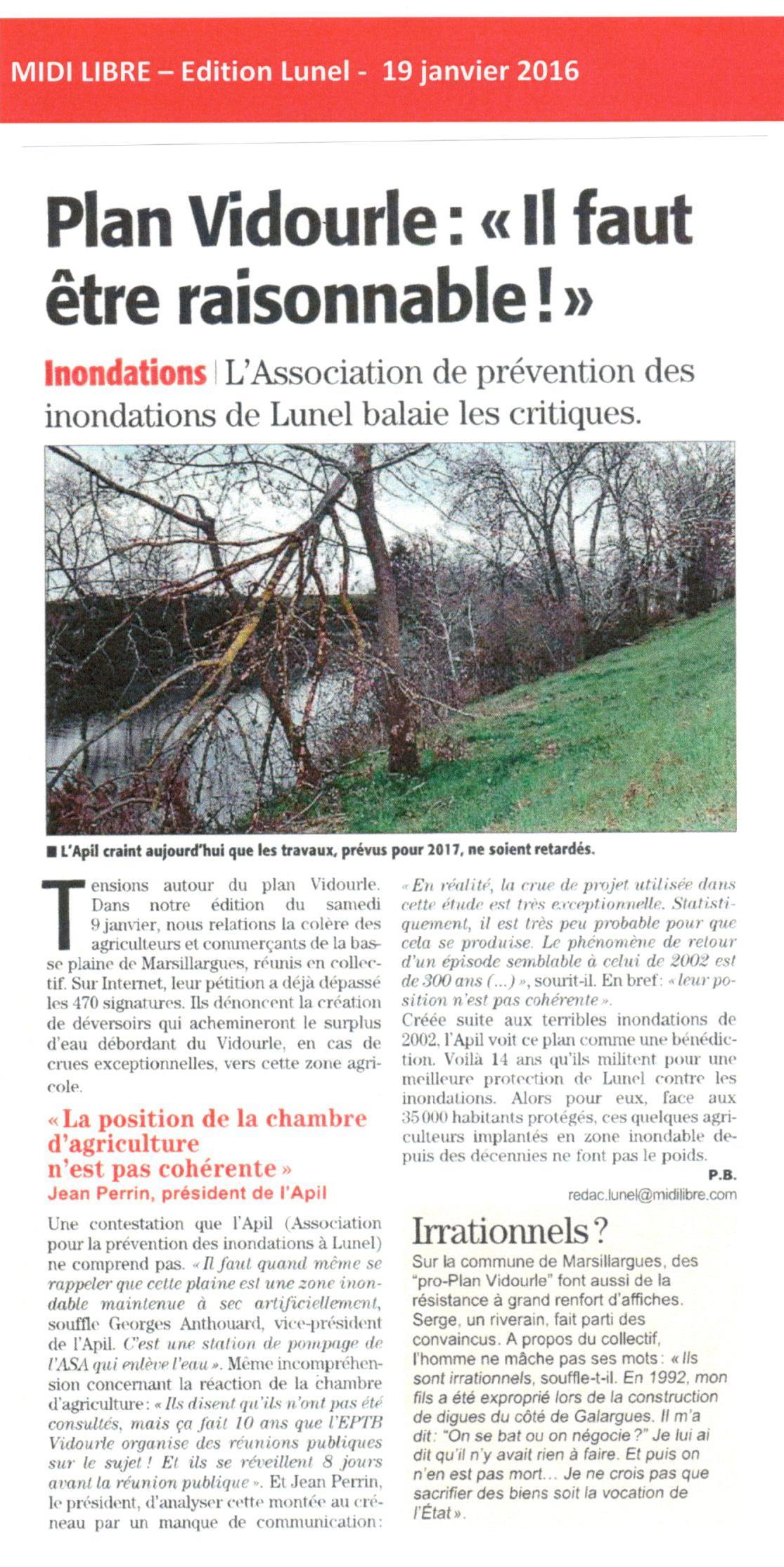 L'Association de Prévention des Inondations de Lunel balaie les critiques