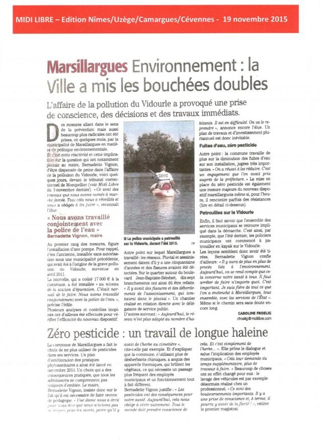 Midi Libre - 19 novembre 2015