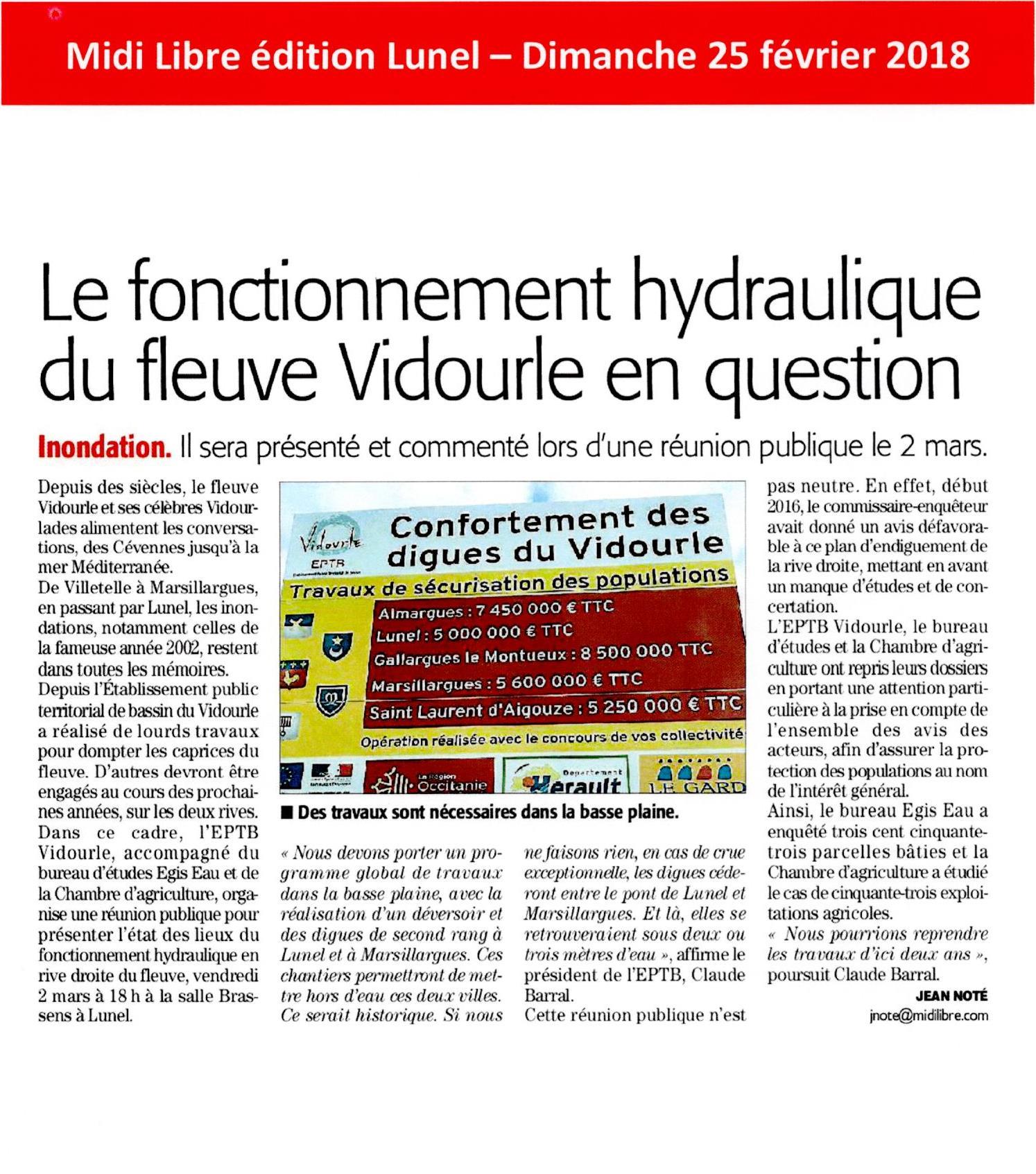 Réunion publique : Présentation de l'état des lieux du fonctionnement hydraulique en rive droite du fleuve