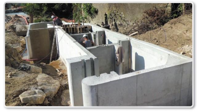 Construction d'une passe à poissons