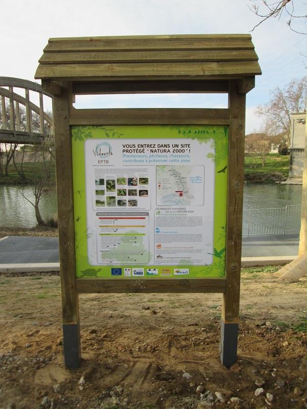 Installation de panneaux d'information Natura 2000 pour le Grand Public