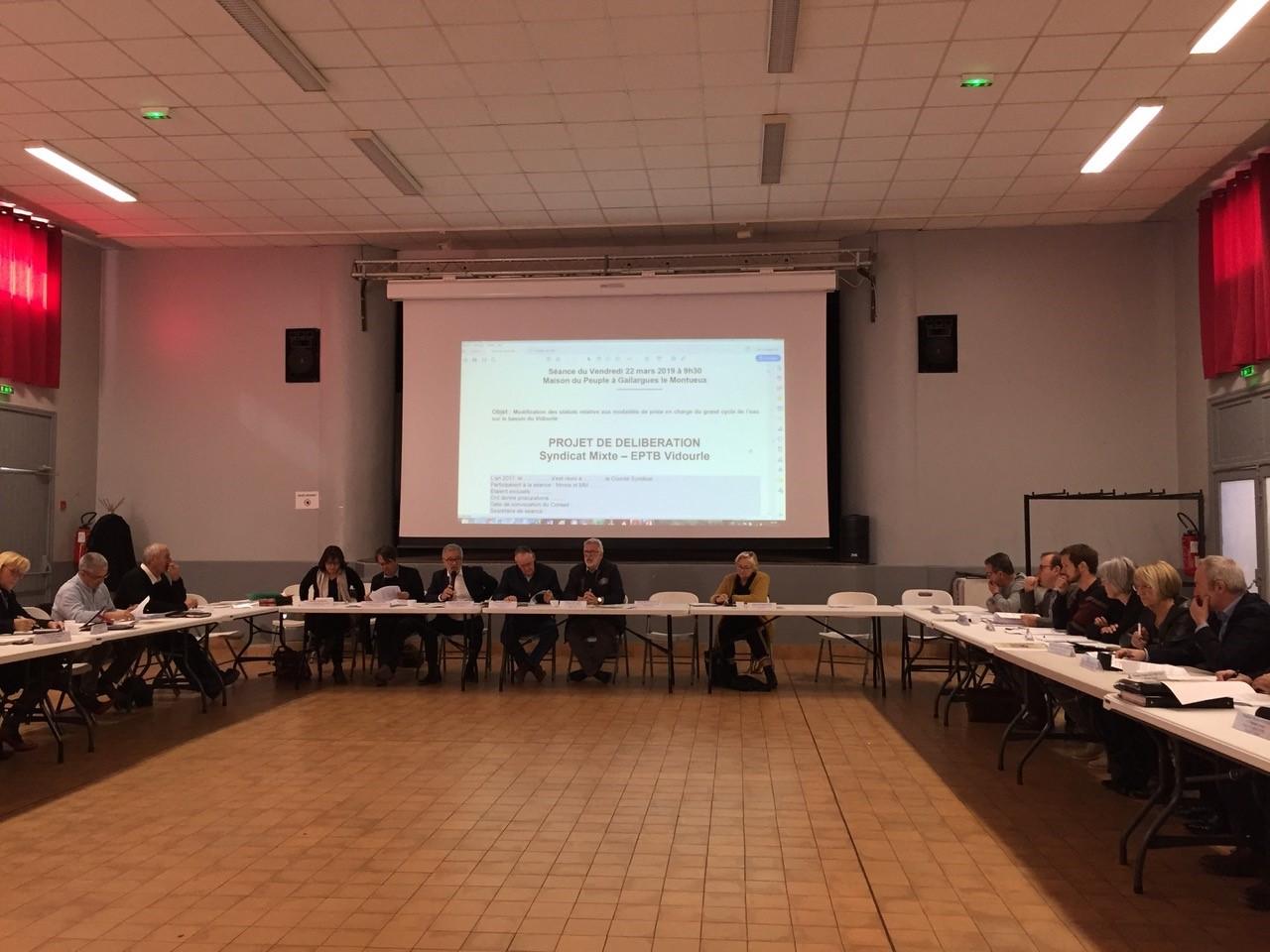 Le comité syndical de l'EPTB Vidourle s'est tenu vendredi 22 mars à Gallargues-Le-Montueux