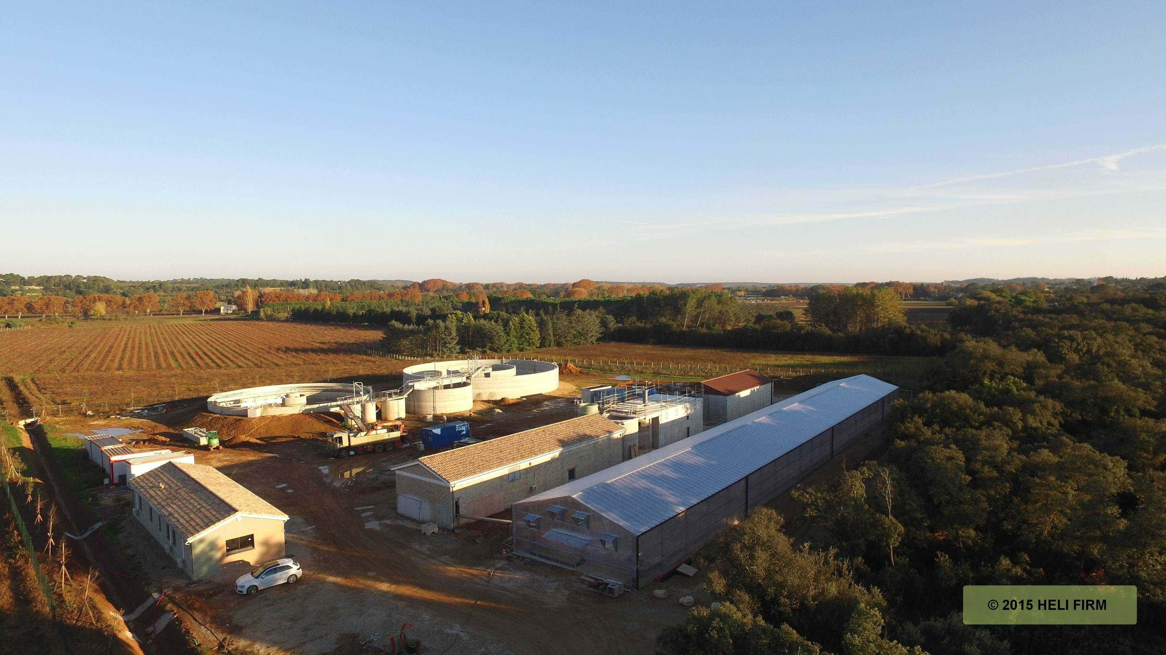 Contrat de rivière : Vendredi 1er juillet 2016, la station d'épuration intercommunale de Sommières/Villevieille/Boisseron/Saussines a été inaugurée