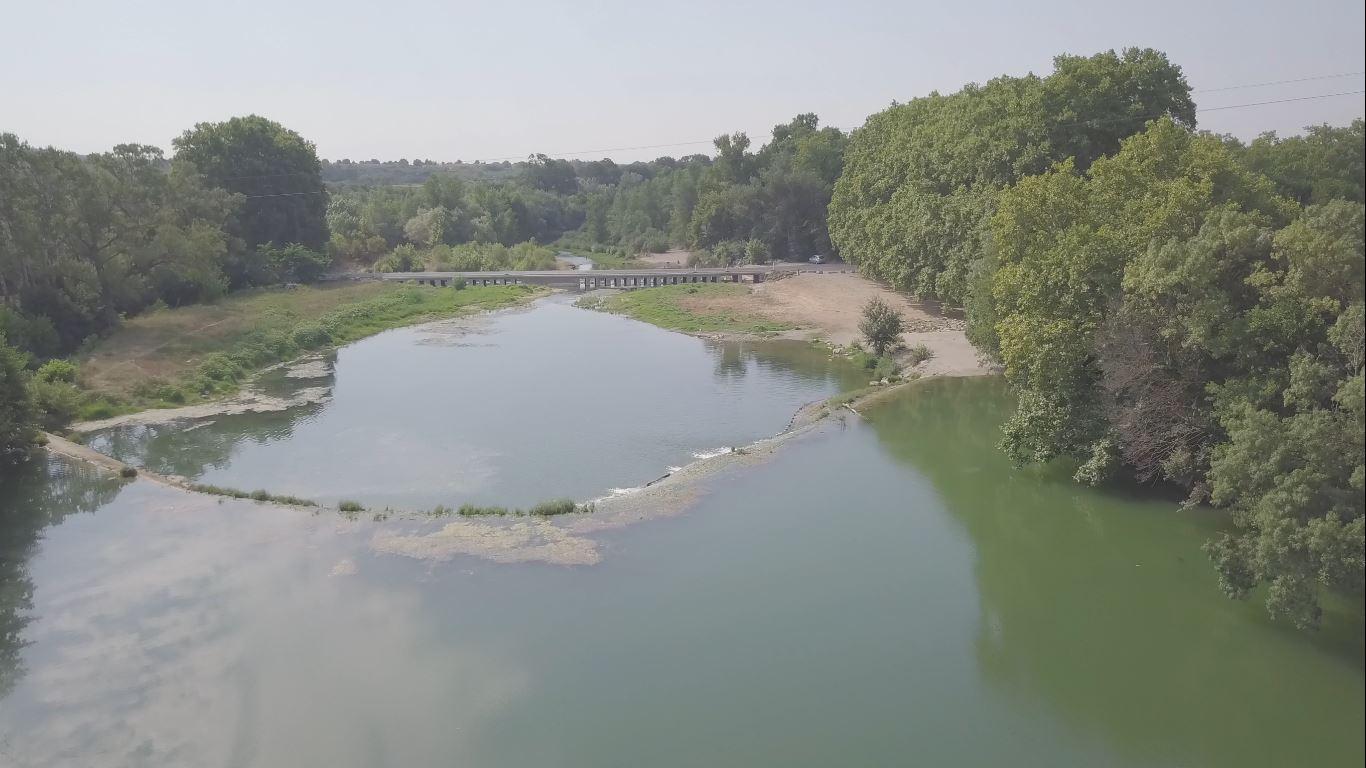 Continuité biologique, seuil et Pont Aubais Villetelle,  préparation des travaux malgré la crise sanitaire