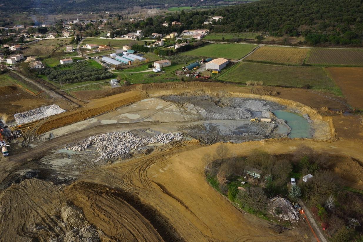 Bassin de rétention de la Garonnette : récupération des eaux de pluies