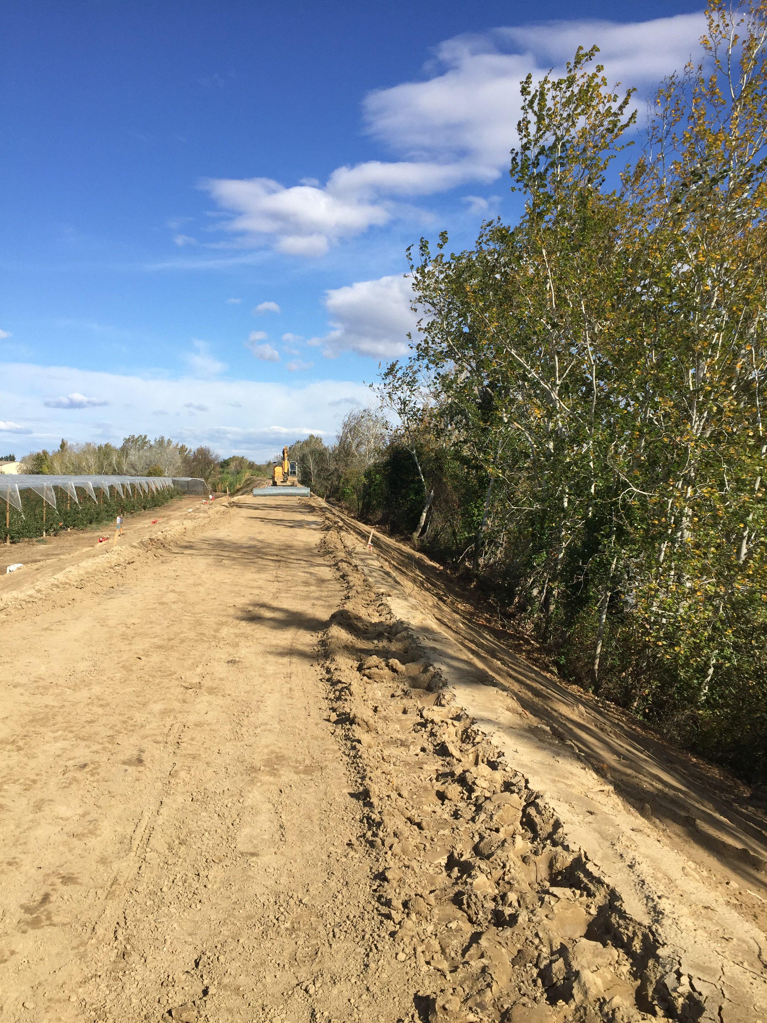Gestion du secteur endigué : fin du chantier du Mas des Mourgues à Marsillargues