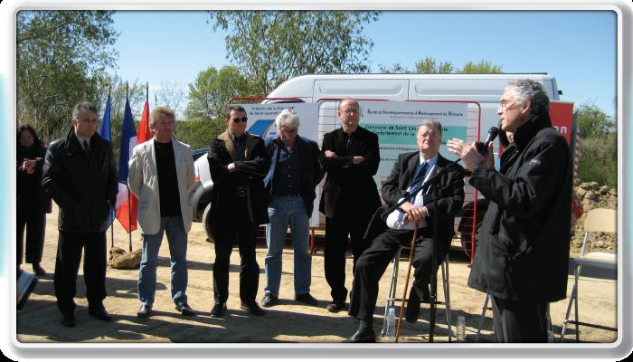 Visite de chantier par la région (2008)