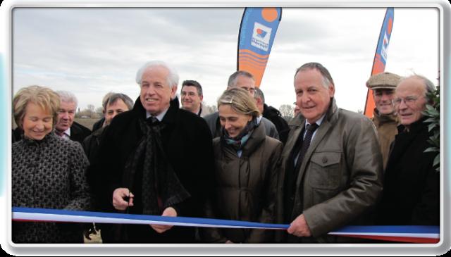 Inauguration janvier 2010, digue classée B Lunel