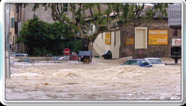 Quissac inondée