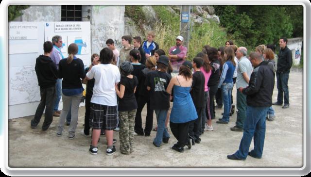 Collège de Lunel au barrage de la Rouvière