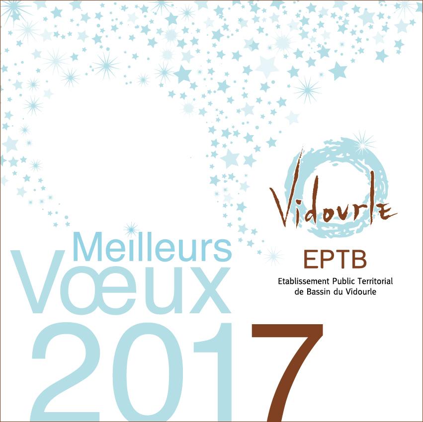 Le Président, le Vice-président et toute l'équipe de l'EPTB Vidourle vous souhaitent une bonne année !